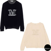 MaxMara Crew Neck Cashmere Long Sleeves Medium Elegant Style Logo