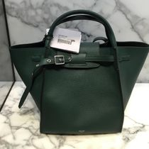 CELINE Big Bag Calfskin Plain Handbags