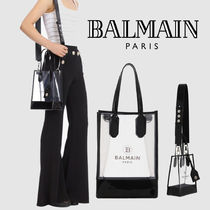 BALMAIN Casual Style Street Style 2WAY PVC Clothing Office Style