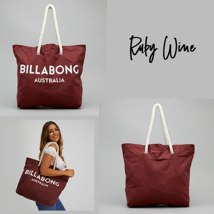 Casual Style Unisex Street Style Office Style Logo Totes