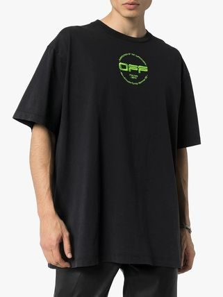 Off-White Crew Neck Crew Neck Street Style Cotton Short Sleeves Logo 3
