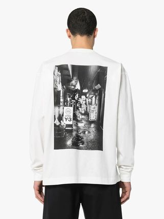 Y-3 Long Sleeve Crew Neck Street Style Long Sleeves Cotton 4