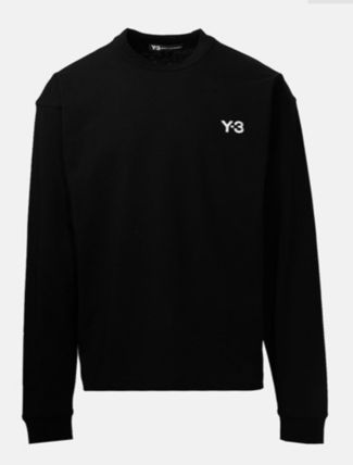 Y-3 Long Sleeve Crew Neck Street Style Long Sleeves Cotton 5
