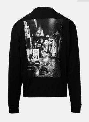 Y-3 Long Sleeve Crew Neck Street Style Long Sleeves Cotton 6