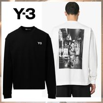 Y-3 Crew Neck Street Style Long Sleeves Cotton