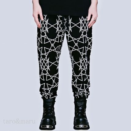 LONG CLOTHING Printed Pants Unisex Street Style Cotton Patterned Pants