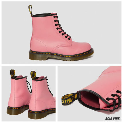 Dr Martens 1460 Plain Toe Round Toe Lace-up Casual Style Unisex