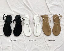 Casual Style Plain With Jewels Elegant Style Sandals