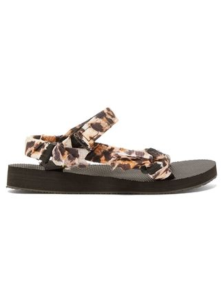 Leopard Patterns Casual Style Sport Sandals Flat Sandals