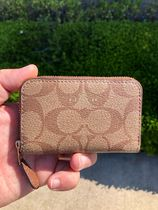 Coach SIGNATURE Leather PVC Clothing Long Wallet  Small Wallet Logo