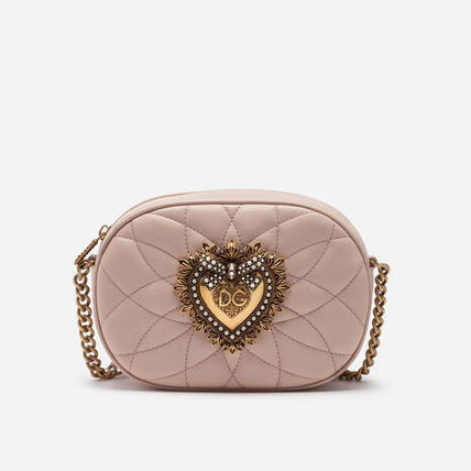 Dolce & Gabbana Heart Chain Plain Leather Party Style Elegant Style