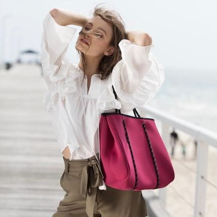 Casual Style Unisex Bag in Bag A4 Plain Totes