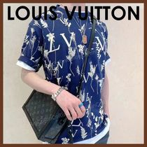 Louis Vuitton Unisex Cotton Short Sleeves Logo Luxury T-Shirts