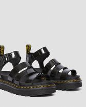 Dr Martens BLAIRE Unisex Street Style Leather Oversized Co-ord Shower Sandals