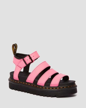 Unisex Street Style Leather Oversized Co-ord Shower Sandals