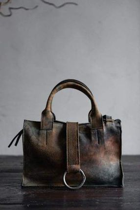 Unisex Plain Leather Handmade Small Shoulder Bag