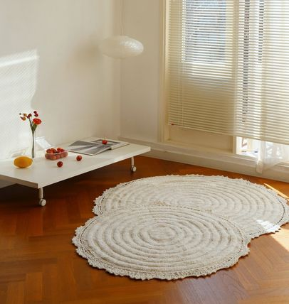 Plain Round Carpets & Rugs