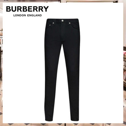 Burberry More Jeans Denim Street Style Plain Jeans 2