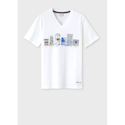 V-Neck Cotton Short Sleeves T-Shirts