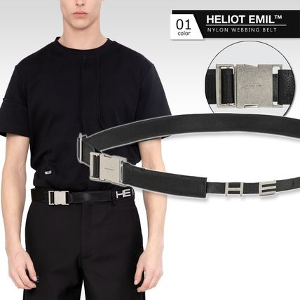 Nylon Plain Logo Belts