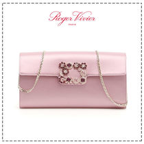 Roger Vivier Flower Patterns Casual Style 2WAY Chain Plain Party Style