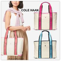 Cole Haan Casual Style Street Style Logo Totes