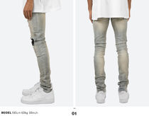 MNML More Jeans Printed Pants Unisex Denim Street Style Plain 7