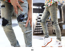 MNML More Jeans Printed Pants Unisex Denim Street Style Plain 9