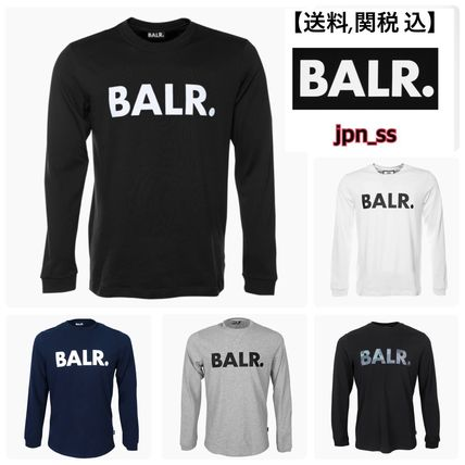 BALR Long Sleeve Crew Neck Street Style Long Sleeves Cotton