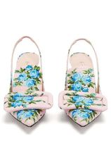 EMILIA WICKSTEAD Flower Patterns Pin Heels Elegant Style