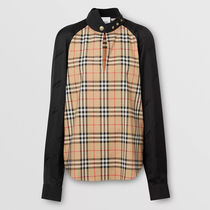 Burberry Tartan Other Plaid Patterns Long Sleeves Cotton