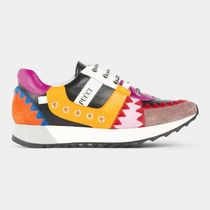 Emilio Pucci Lace-up Casual Style Leather Elegant Style Formal Style