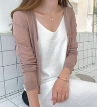 Linen Icy Color Sheer Cardigans