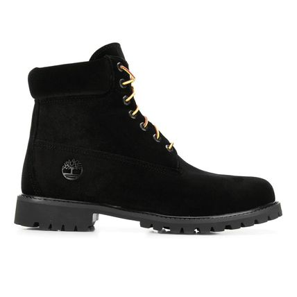 Off-White Plain Toe Mountain Boots Blended Fabrics Street Style