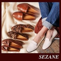 SEZANE Casual Style Plain Leather Handmade Office Style