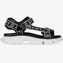 GIVENCHY Open Toe Platform Round Toe Casual Style Bi-color