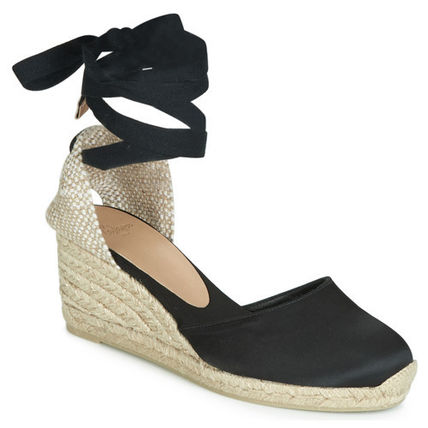 Round Toe Casual Style Plain Platform & Wedge Sandals