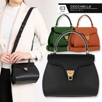 COCCINELLE Casual Style 2WAY Plain Leather Party Style Elegant Style