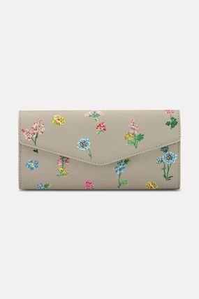 Flower Patterns PVC Clothing Folding Wallet Logo