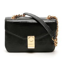 CELINE C Casual Style Chain Other Animal Patterns Leather Party Style