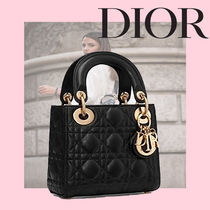 Christian Dior LADY DIOR Zigzag Casual Style Lambskin 2WAY Chain Plain Party Style