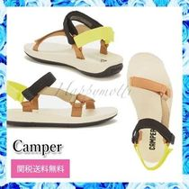 CAMPER Open Toe Round Toe Casual Style Blended Fabrics Plain