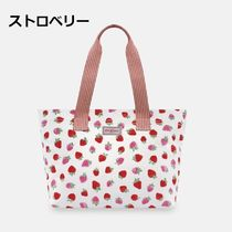 Cath Kidston Flower Patterns Casual Style Canvas A4 Bi-color Plain Totes