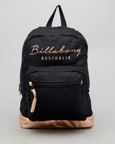 Billabong Casual Style Unisex Street Style A4 Plain Logo Backpacks