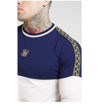 Street Style Bi-color Long Sleeves Cotton