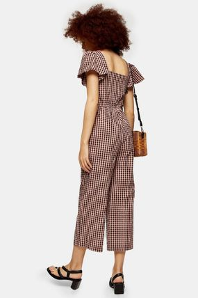 Gingham Casual Style Street Style Cotton Medium Long