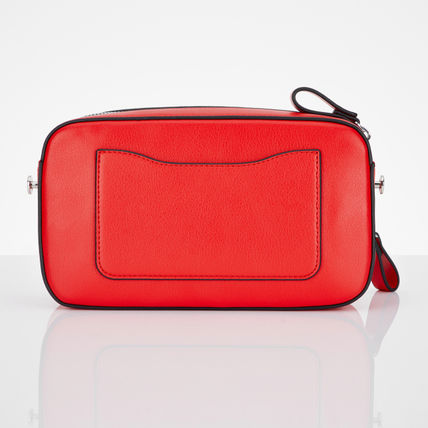 Casual Style Street Style Leather Logo Satchels
