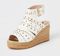River Island Platform Casual Style Faux Fur Studded