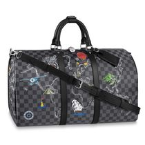 Louis Vuitton DAMIER GRAPHITE Unisex Street Style A4 2WAY Leather Logo Boston Bags