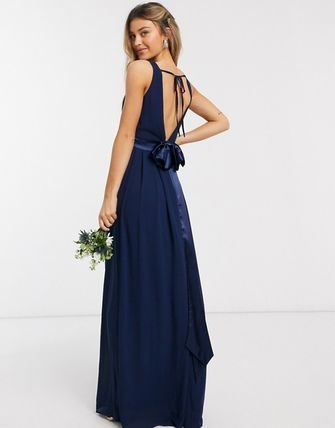Flared Plain Long Party Style Elegant Style Dresses